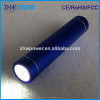 New arrival torch 2600mah micro usb charger, mobile power bank for mobile phone samsun g S6,S5,S4,S3 etc factory price $2
