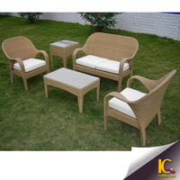 OEM rattan outdoor patio cheap furniture sofa set aluminium frame with waterproof cushion