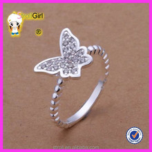 Wholesale cheap butterfly with c z jewelry 925 sterling silver ring