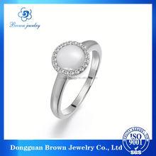 original artificial white gold ring