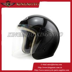 ABS shell half face motorcycle helmet, black yellow helmet
