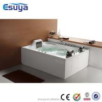 Luxury large square whirlpool folding indoor portable spa bathtub
