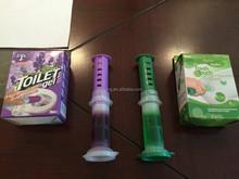 Hot sale syringe pushing closestool gel detergent patent toilet bowl cleaner