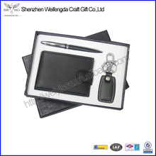 Fancy Promotion PU Leather Men Gift Set With Gift Box