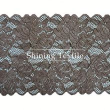 Jacquard And Textornic Nylon Spandex Swiss Voile Lace Trim White For Underwear