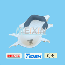 Rounding dust mask with valve, disposable face mask custom printed surgical mask