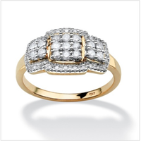 Big Promotion ! SJ Factory Direct Sale SJW009 Women Antiallergic Brass Gold Plated Cubic Zircon Round Simulated Diamond Ring