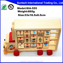 2015 Fashion pull back toy for kids,wooden toy pull and push toy for children,hot sale pull cart toy