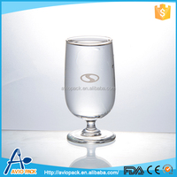 Large capacity disposable aviopack clear glass water cup for inflight