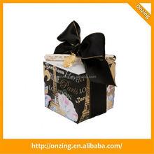 Onzing good quality cube shaped wedding gift box