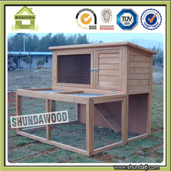 SDR12 Double Storey Rabbit Hutch with Extension Run