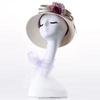 Female long neck plastic mannequin head