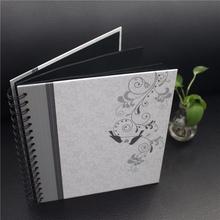 2016 alternative wedding style black paper scrapbook spiral album in china yiwu