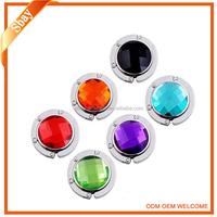 Various colours crystal stones bag hanger/purse hook/bag holder