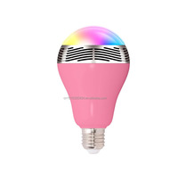 2015 latest Smart Colorful LED Bulb Speaker Bluetooth subwoofer Top Quality