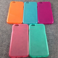 Colorful and transparent ultra-thin TPU phone case for iphone 6