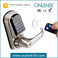 door handle lock password and mechanical key