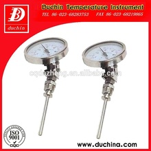 industrial de acero inoxidable bimetal indicador de temperatura
