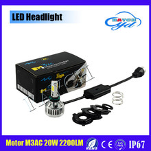 20W 6000K White Bulb 2200lm LED Headlight For Harley Softail Street Glide Motorcycle