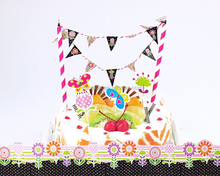 2015 New Arrival DIY Butterly Flower Birthday Party Decoration Paper flag and strew set