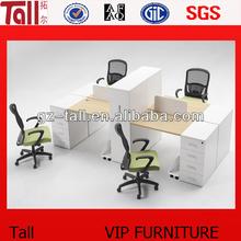 2013 furniture wholesale of rectangular office desk workstation for 4 person