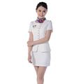 moda feminina verão uniforme do hotel design manga curta blazer saia do gerente do hotel uniforme de uniformes recepcionista ws599