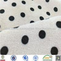 Minky Dot Print Super Soft Velboa/Velour Fabric Minky Fabric for Baby Blanket