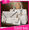 2015 wholesale new product pu leather bag purses and handbags women set bag 6pcs lady handbag