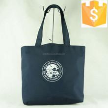 2015 young girls navy blue fashion shoulder foldable shopping bags guangzhou factory