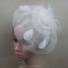 New Arrival Bridal Design Big Fascinator Hat With Feather