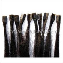 Manufactory remy human hair u/v/flat tip, micro ring, nano ring pre-bonded hair extension