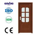 Eco- ambiente material de pvc de vidrio esmerilado interior puerta