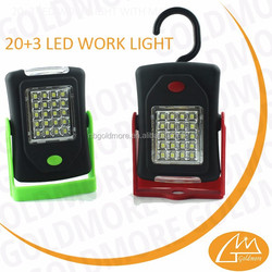 GOLDMORE1 Rotary design energy saving outdoor 20SMD+3led lamp battery work light with hook/SMD work light