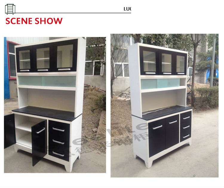 High gloss cheap steel and glass kitchen cabinet ghana for Kitchen cabinets ghana