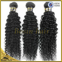 fashion hair weft high quality hair extension unprocessed wholesale Indian 100% natural color curly wave