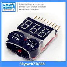 (Shop direct selling) for 1-8S Lipo/Li-ion/Fe Battery Voltage 2IN1 Tester Low Voltage Buzzer Alarm