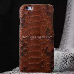 Gold Snake leather case for iPhone 6 6 Plus, For iPhone 6 Real genuine leather case