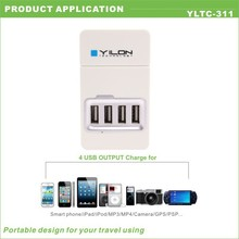 new type 110-240v oem 5v 4a 4 port usb wall charger
