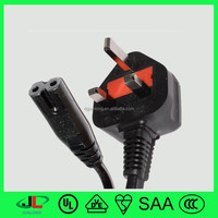 UK/VDE approval 3 pin non-rewireable BS power cord UK plug with Figure 8 uk plug