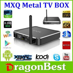 MXQ MX CS918 android TV BOX amlogic s812 quad core mxq ott tv box