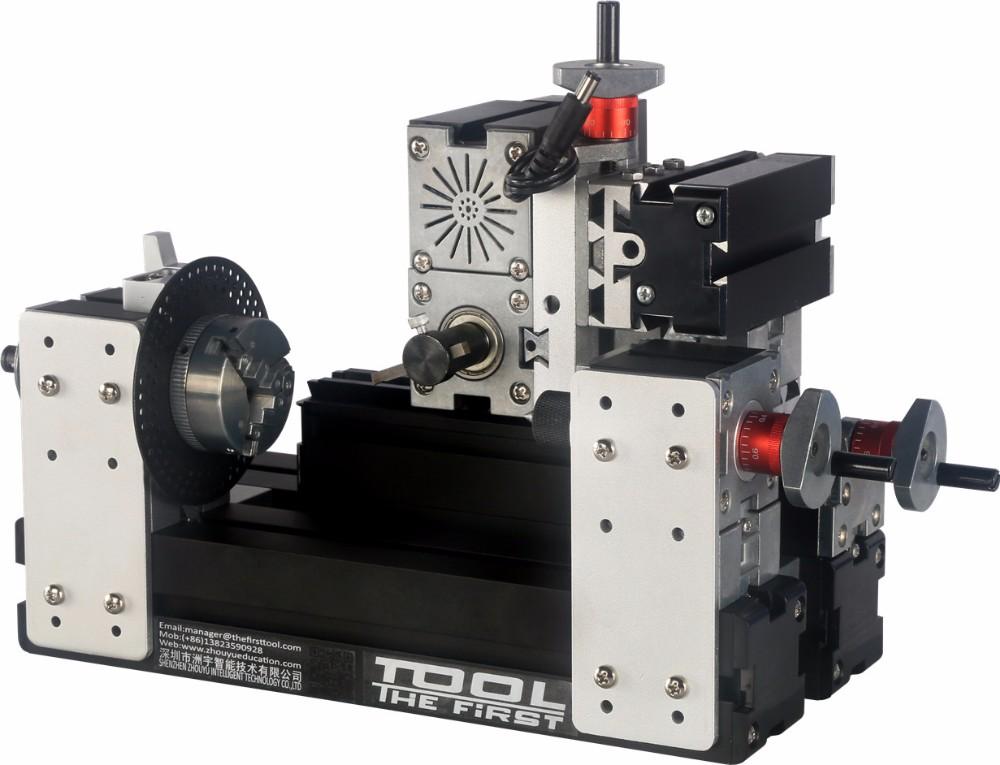 60W Power Mini Lathe Machine 12000RPM Motor Woodworking Soft Metal DIY Tool