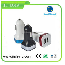 Dual usb car charger Mobile Phone Accessory Average sell like Hot cakes with High Efficiency