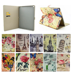 Retro Color Printed Classic Custom Leather Case for iPad Pro with Sleeping /wake up feature TOP China supplier