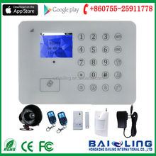2015 new touch screen Wireless Home Security auto dial burglar App android ios remote control alarm system gsm