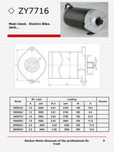 150W12V DC motor with 2800rpm 1.5A