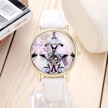 NEW Women Watch fashion casual new quartz leather watch colorful jigsaw high quality feminine round dial wristwatches Christmas