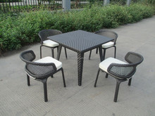 Outdoor rattan table sets for garden used