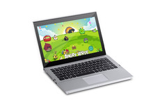 OEM ultral thin 13.3 inch display pannel laptops, 10 touch point display pannel;2gb ram, 320gb rom,