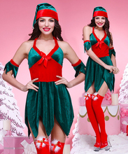 YIWU Caddy SDFS-019 New Latest !!! Hot Lady Women green demon Santa Claus Sexy Christmas Costumes