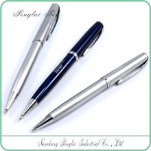2015 blue smooth writing twist custom logo advertistising cheap promotional best selling half metal pen
